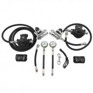 Zestaw Sidemount 2xDST/XTX50 I+II stopień+2xManometr